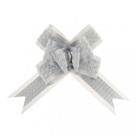 Бант-бабочка №5 с полосой, белый