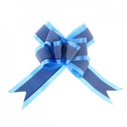 Бант-бабочка №5 с полосой, синий 1028061