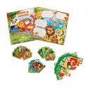 Набор для праздника День Рождения: звери, карточки, гирлянда