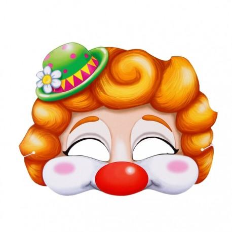"Маска карнавальная ""Клоун"", 21,5 х 16,5см"