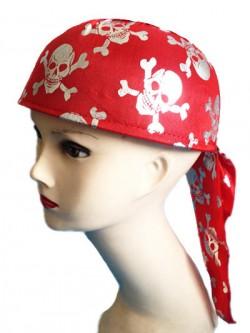 """Головной убор """"Пират"""" красный (Китай)"""