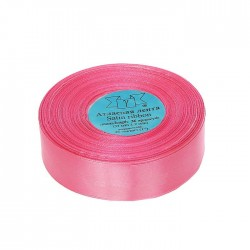 Лента атласная 25мм*33(±2)м №005 розовый Gamma
