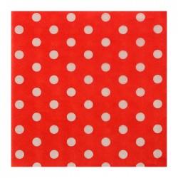"""Салфетки бумажные 25*25 """"Горох"""" красный цвет (набор 20 шт)"""