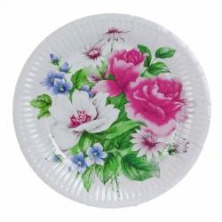 Набор тарелок Романтичный букет 18см 6 шт