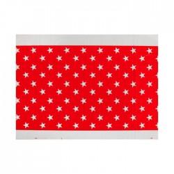 Скатерть Звезды красная 180х108см