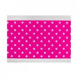 Скатерть Звезды розовая 180х108см