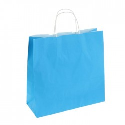 Пакет крафт Радуга голубой 32х32см