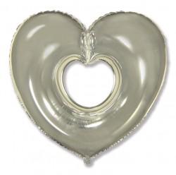 И 30 Сердце Вырубка (серебро) / Shape heart / 1 шт / (Испания)