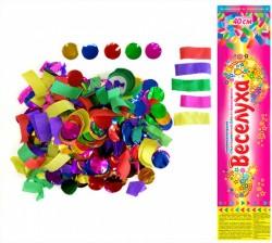 Пневмохлопушка Разноцветный блеск. Бумага/фольга 40 см / 1 шт. / (Китай)