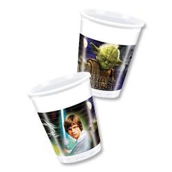 """P Стаканы пластиковые 200 мл """"Звездные войны"""" / Star Wars The Force Awakens / набор 8 шт. / (Греция)"""