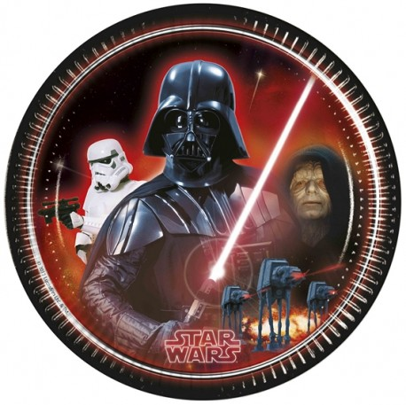 "P Тарелки 23 см ""Звездные войны"" / Star Wars The Force Awakens / набор 8 шт. / (Греция)"