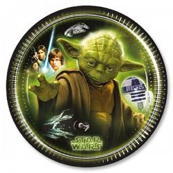"P Тарелки 20 см ""Звездные войны"" / Star Wars The Force Awakens / набор 8 шт. / (Греция)"