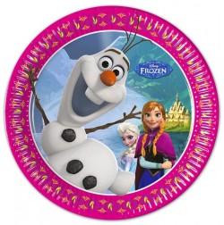 """P Тарелки 20 см """"Холодное Сердце. Альпы"""" / Frozen Alpine / набор 8 шт. / (Греция)"""