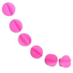 """Гирлянда """"Кружочки"""" ярко-розовая 5,5 см*2,2 м"""