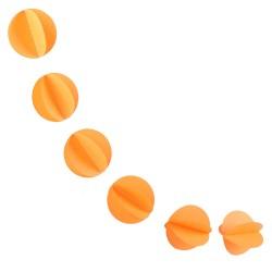 Гирлянда Кружочки светло-оранжевая 220см