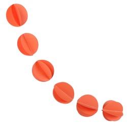 Гирлянда Кружочки оранжевая 220см