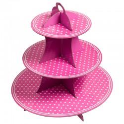 Стойка для десертов, Точки, розовый