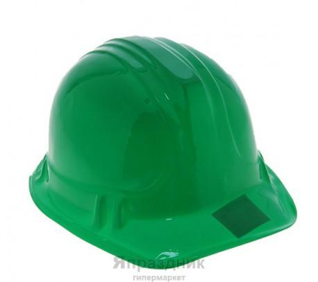 Карнавал каска пластик зеленая 14*25*20