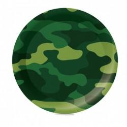 F 23см Тарелки бумажные ламинированные Милитари 6шт