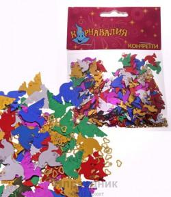 Карнавал конфетти голуби сердечки 2 размера 14 гр