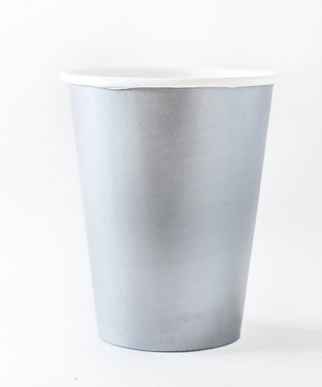 Стакан бумажный Серебро ( набор 12 шт)