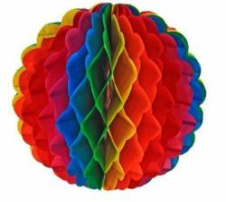 Подвеска бумажная разноцветный шар 318788