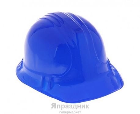 Карнавал каска пластик синяя 14*25*20
