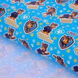 """Бумага упаковочная глянцевая """"Самый классный подарок"""", Paw Patrol, 100 х 70 см"""