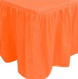 """S Юбка для стола """"Делюкс"""" Оранжевая 0,75*4 м / 1 шт. / (Колумбия)"""