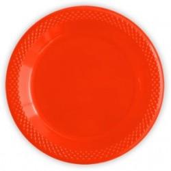 """S Тарелки пластиковые 23 см """"Делюкс"""" Красные / набор 10 шт. / (Колумбия)"""