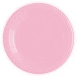 "S Тарелки пластиковые 23 см ""Делюкс"" Розовые / набор 10 шт. / (Колумбия)"