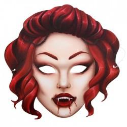 """Маска карнавальная """"Вампирша"""", 26,6 х 26,5 см"""