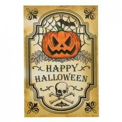 "Наклейка на бутылку ""Хеллоуин"" (тыква и череп), 8х12 см 2453626"