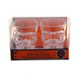 стакан светящийся череп (набор 2 шт)