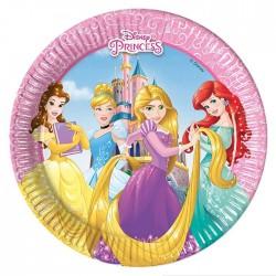 Набор тарелок Принцессы Дисней 20см 8шт