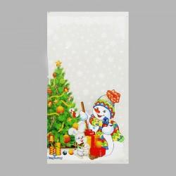 """Пакет подарочный """"Открытка"""" 20 х 35 см, цветной металлизированный рисунок 2620742"""