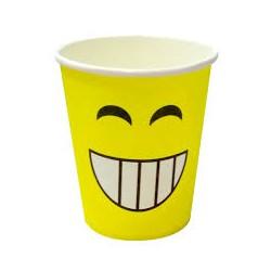 Стаканы Смайл с зубами, желтый, 180мл, 6шт