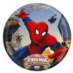 "P Тарелки 20 см ""Человек-Паук"" / Ultimate Spiderman Web Warriors / набор 8 шт. / (ЕС)"