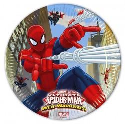 "P Тарелки 23 см ""Человек-Паук"" / Ultimate Spiderman Web Warriors / набор 8 шт. / (ЕС)"
