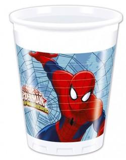 "P Стаканы пластиковые 200 мл ""Человек-Паук"" / Ultimate Spiderman Web Warriors / набор 8 шт. / (ЕС)"