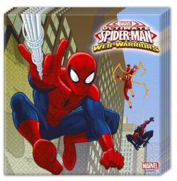 "P Салфетки 33*33 см ""Человек-Паук"" / Ultimate Spiderman Web Warriors / набор 20 шт. / (ЕС)"