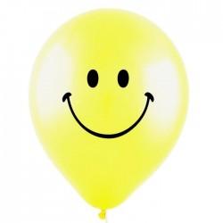Шар Смайл желтый пастель 30см 100шт