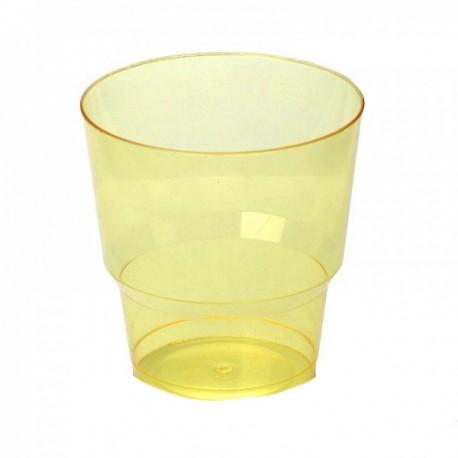 Стакан д/хол., 0.20л, кристалл, ПС, желтый 8 шт