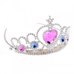 Корона Царица со стразами серебряная