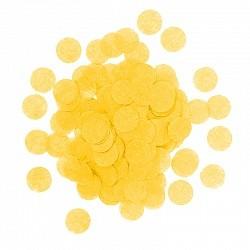 Конфетти Круги, Желтый, бумага, 7гр.
