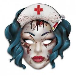 Маска карнавальная Мертвая медсестра 27х26см