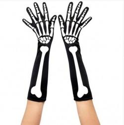Перчатки скелет черные