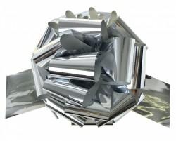Бант Шар металлик Серебро (3''/8 см),