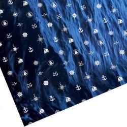 "Бумага упаковочная глянцевая ""Синее море"",70 х100 см 1641171"