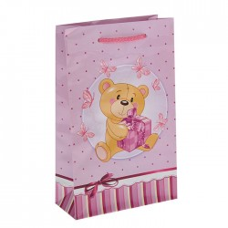 """Пакет подарочный """"Пушистик"""" розовый 16,5 х 7 х 26,5 см 1431833"""